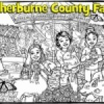 The Sherburne County Fair uses their mural to reveal winners of a 125th Anniversary button contest