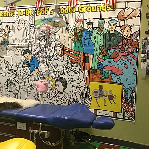 Wipeable Rigid Mural in a Pediatric Dentist's Office