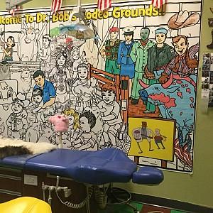 Wipeable Rigid Mural in a Pediatric Dentist's Office
