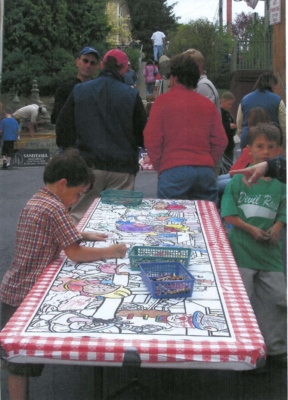 The Monster Mural Table Size Coloring Sheets