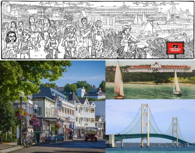 New Illustration for Mackinac Island