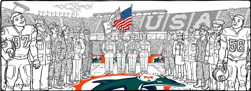 Miami Dolphins Stadium Veterans Day - 1418