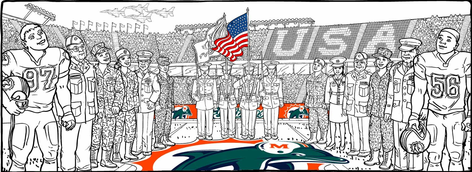 The Monster Mural - Miami Dolphins Stadium Veterans Day - 1418 61b8f71ff
