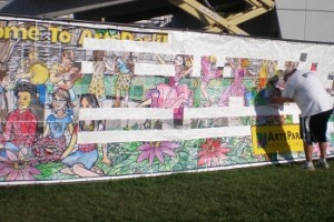 Murals in Line-Art Squares